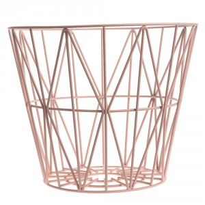 wire basket top large røget eg ferm living mærker