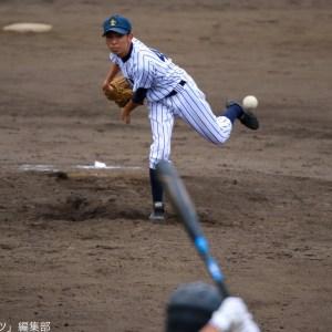 この試合1年生で唯一登板した石川(コ1)