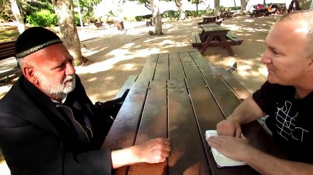 Zev Porat (to the right) of Messiah of Israel Ministries - interviewing Rabbi Kaduri student Eliyahu - a rabbi believer in Yeshua (Jesus).