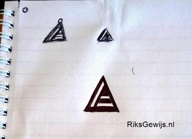 driehoek hanger schets