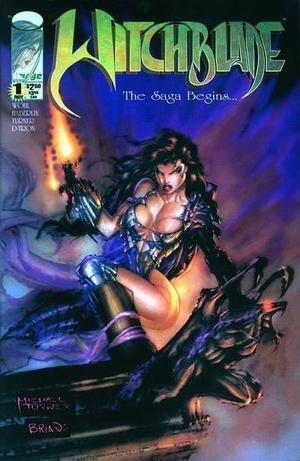 De cover van de eerste witchblade stripboeken reeks. Hier is gelijk goed te zien dat het een Amerikaanse strip is.