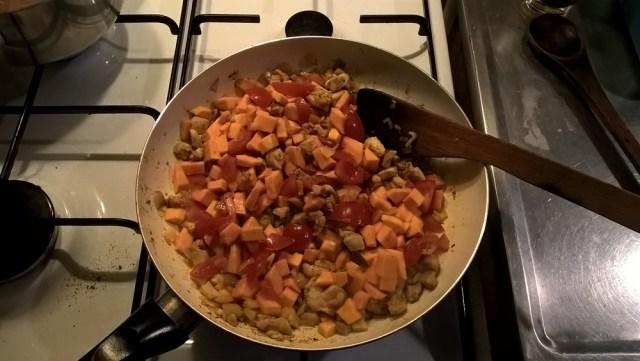 Pompoen met kip en kerrie (2)