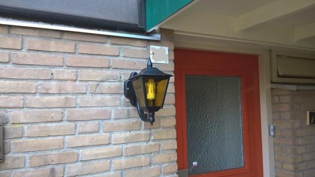 Buitenlamp restauratie
