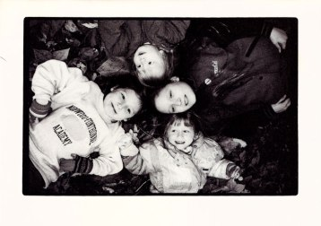 "1995 ""Four Girls""; half-tone copy of silver gelatin print"