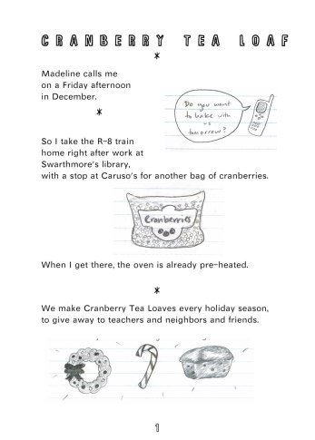 2007 Cranberry Tea Loaf Zine, p 2 - written and illustrated by Lauren