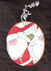 1986 Handmade Ornament Card