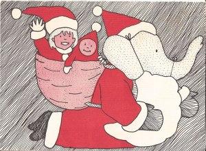 Babar Christmas Card, 1989