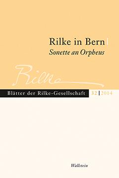 Titelblatt - Blätter der Rilke-Gesellschaft, Band 32