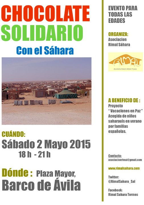 Chocolate Solidario con el Sáhara