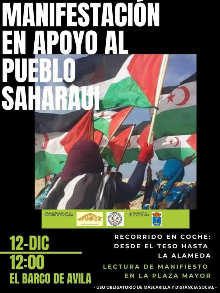 Volvemos a manifestarnos para exigir una solución inmediata al conflicto armado en el que vive el Pueblo saharaui
