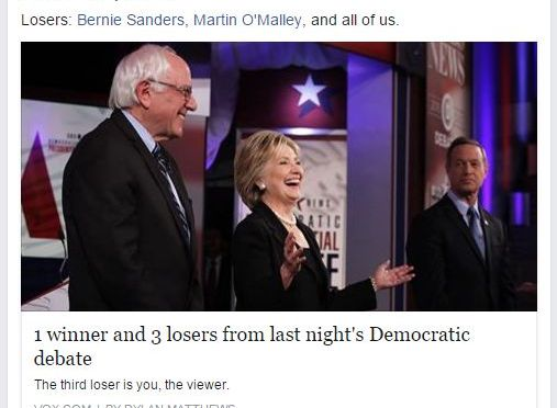The Democratic Primary: Voters Left To Fumble In The Dark | #MSM Bias on Blog#42