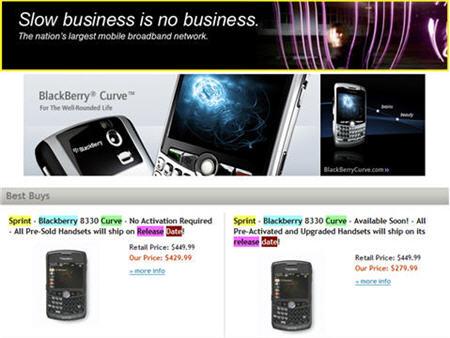 Sprint Store BlackBerry Curve Update