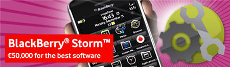 €50,000 Euro BlackBerry Storm Developer Competition