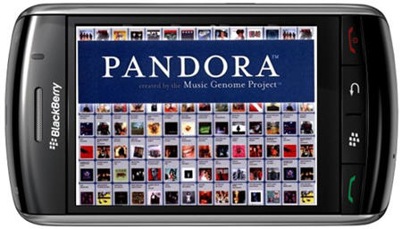 Pandora Now Available On The BlackBerry Storm