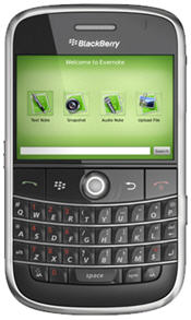 Evernote Now Available For The BlackBerry