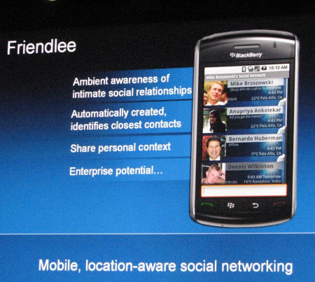 """HP Getting Into The Mobile Social Networking Game With """"Friendlee"""""""