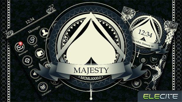 BlackBerry Theme:  Majesty From Elecite.com