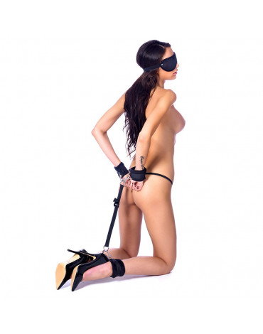 Rimba Soft Hand To Ankle Cuffs With Eye Mask