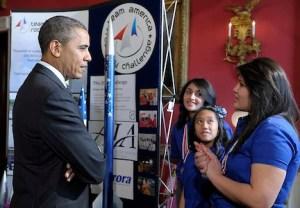 Barack Obama, Janet Nieteo, Gwynelle Condino, Ana Nieto
