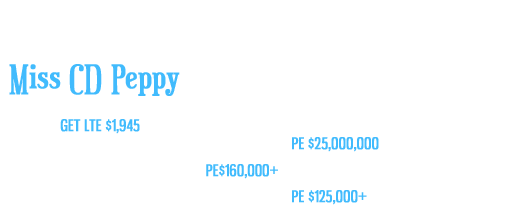 Miss CD Peppy (CD Lights x Martinis Miss Peppy)