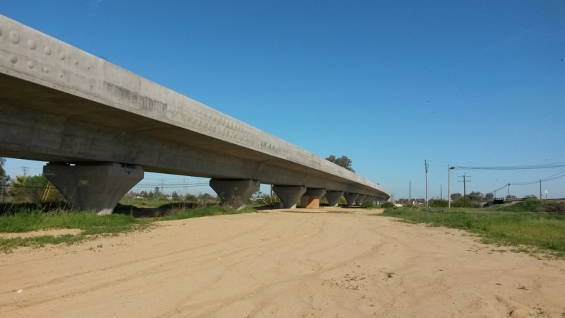 Completed Fresno River Viaduct Structure