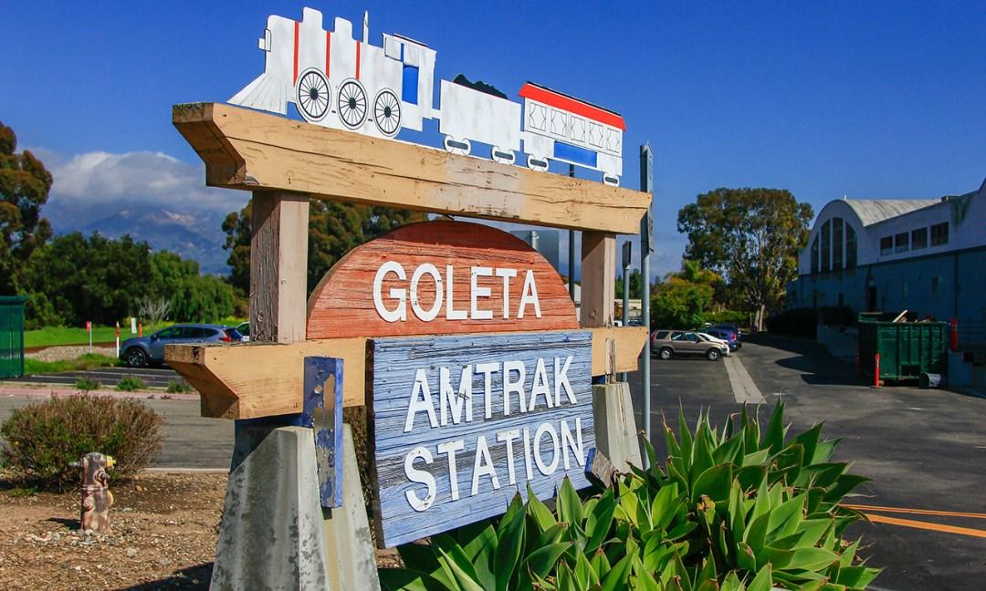 Goleta Amtrak Station Sign