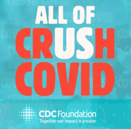 All of Us Crush Covid CDC Foundation Campaign Logo
