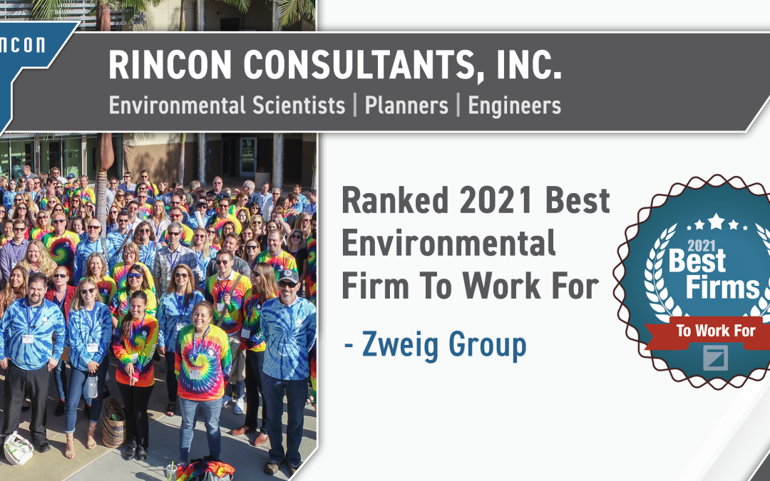 Rincon Awarded #1 Environmental Firm To Work For!