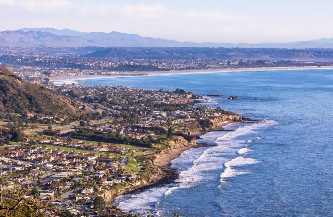 Pismo Beach California Coastline from Above