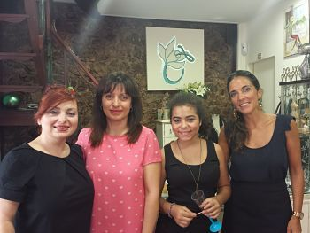 Fabiola, Cande y Laura