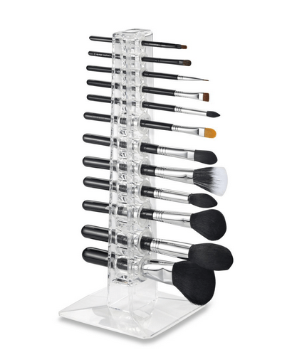 Ideas y productos para organizar tu ríncón de belleza: rganizador brochas vertical