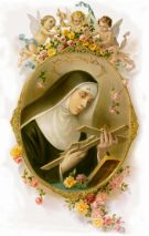 Ilustración de Santa Rita de Casia