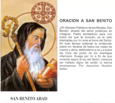 Oración a San Benito de Nursia