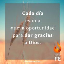 Dale gracias a Dios cada día