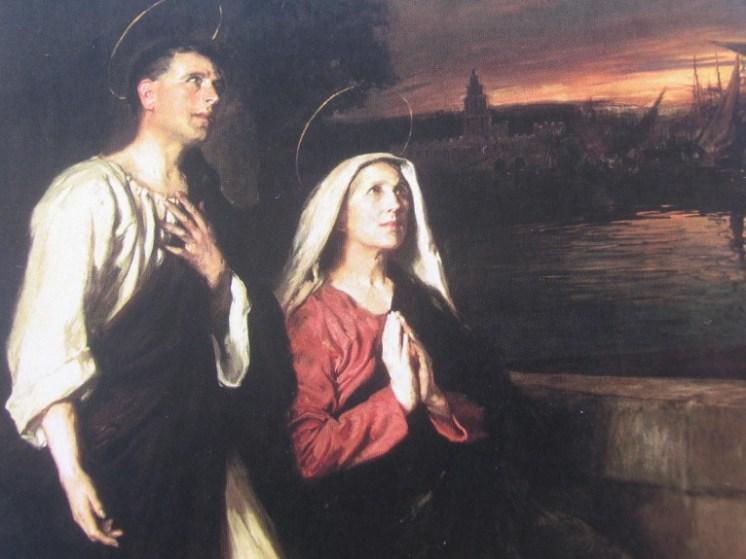 Santa Mónica y San Agustín de Hipona