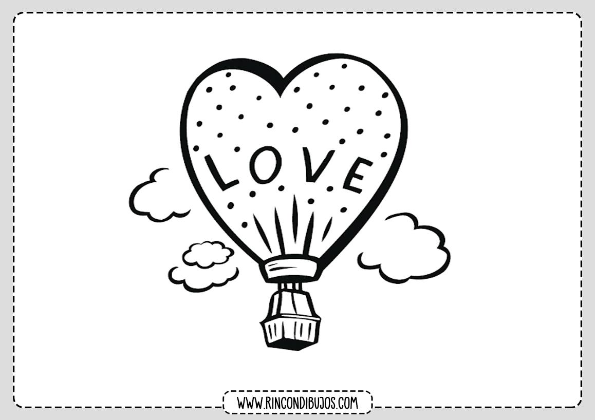 Dibujos De Amor Y Romanticos Para Colorear Gratis