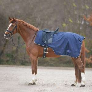 Manta Comfort para lluvia con abertura para la silla de montar
