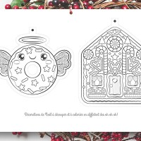 Coloriage décorations de Noël