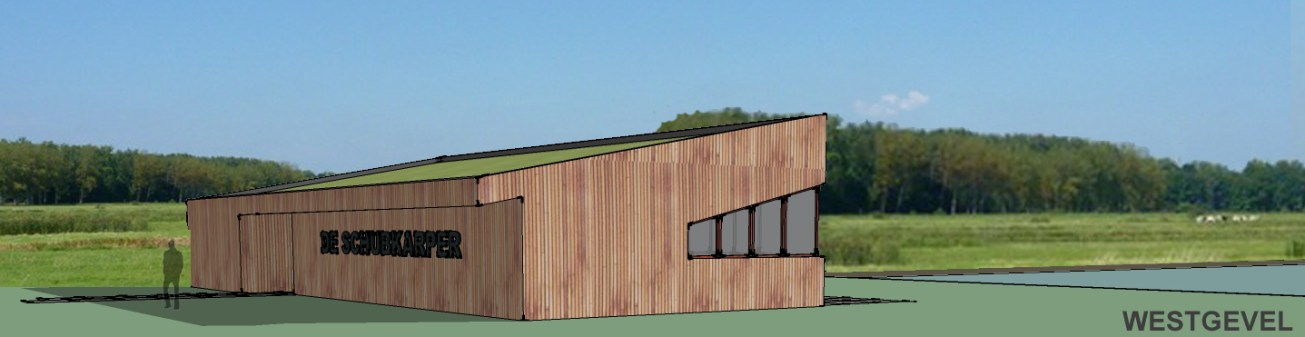 nieuwbouw kantine houtskelet in Rupelmonde