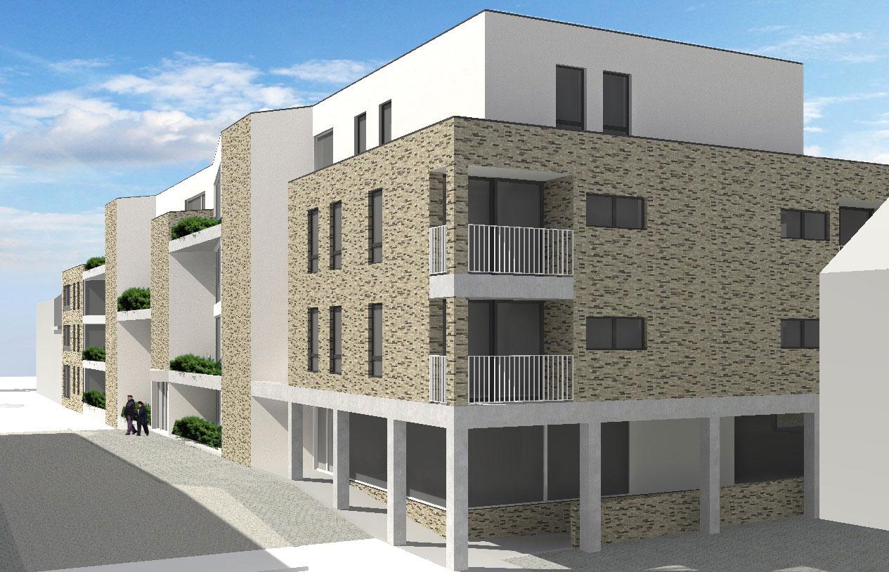 nieuwbouw assistentiewoningen Melsele Hazaarddam