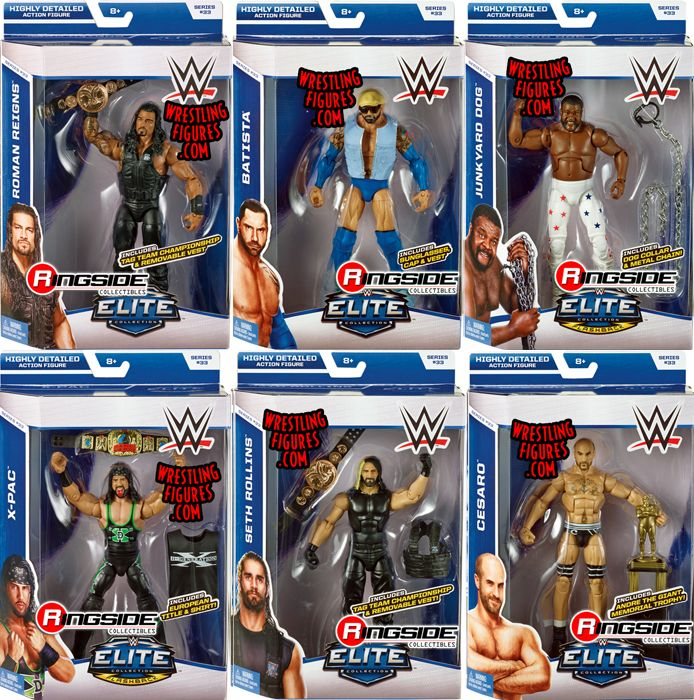 Wwe Elite 33 Complete Set Of 6 Ringside Collectibles