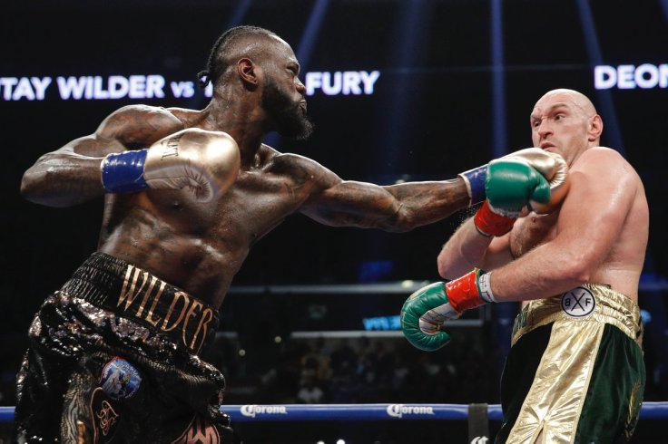 Lineal heavyweight champion Tyson Fury (right) made WBC heavyweight titlist Deontay Wilder miss for much of the fight but the American still scored two knockdowns. Photo / @ShowtimeBoxing