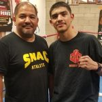 Danny Zamora (left) and lightweight Michael Dutchover
