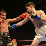 Junior lightweight Giovanni Mioletti (right) vs. Recky Dulay. Photo credit: Mike Blair/BoxingProspects.net