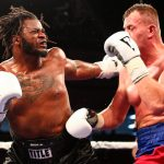 Heavyweight Jermaine Franklin (left) vs. Pavel Sour. Photo credit: Stephanie Trapp/Showtime
