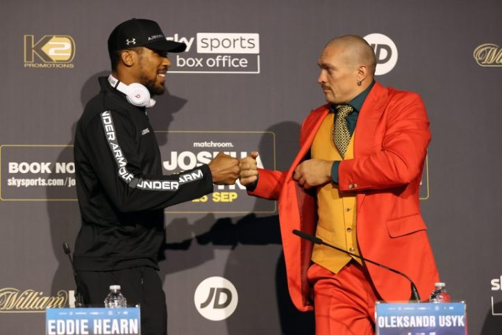 How can you not love Usyk? Here he is at the press conference in Joker themed attire   Matchroom: Joshua vs Usyk