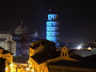 Enel illumina di blu la Torre di Pisa per il 70° anniversario dell'ONU