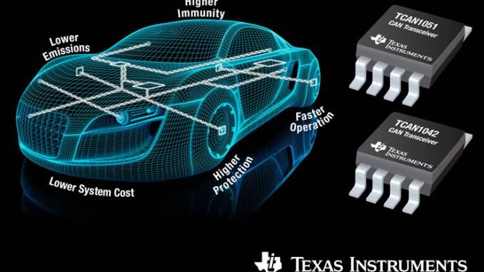 Texas Instruments, nuovi transceiver CAN per l'automotive