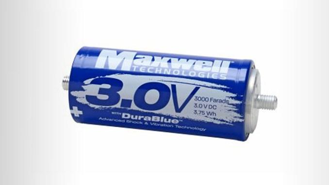 Celle a ultracondensatore Maxwell, energy storage per il settore trasporti