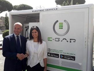 La ricarica elettrica E-GAP arriva a Roma